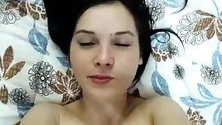 Brunette amateur pov handjob in close up