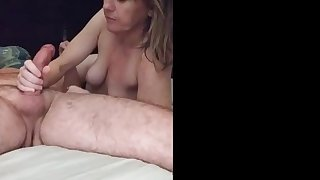 I just can't get enough of sucking my hubby's dick. His cock never bores.