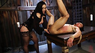 Strapon femdom domination by busty mature lady Lea Lexis