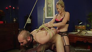 Blonde dominant wife Simone Sonay loves to penetrated her husband