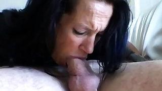 Milf face fucked deepthroat