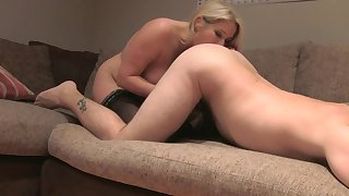 Top blonde shows off licking ass and getting dick in every hole