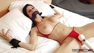 Angelic princess with nice tits cannot have enough pleasure from her favorite sex toy.