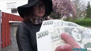 Czech beauty accepts cash for a good fuck on cam