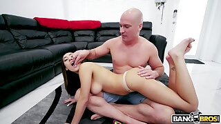 Top rated Bang Bros video featuring Latin babe Kira Perez and bald headed guy Sean Lawless