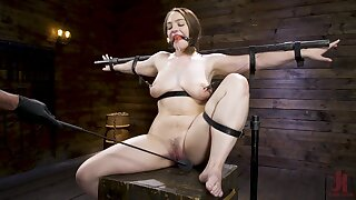 Submissive whore does whatever her master commands