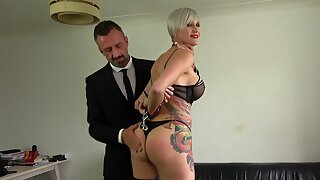 Mature plays obedient for younger man with the right treatment for her