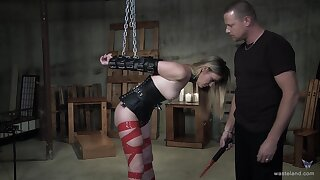 Essential blonde endures extreme voluptuous punishment during amateur BDSM sex play