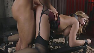 Caged MILF forced fucked and made to swallow