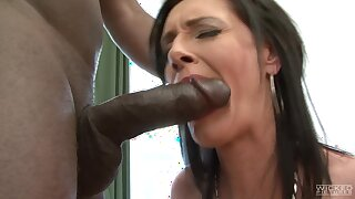 Interracial anal sexual connection with hurtful mature pornstar Laura Dark