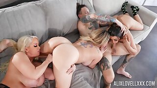 Deep group sex aloft the Davenport with a bunch of premium cougars