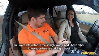 Inexpert czech partisan driver doll banged on backseat