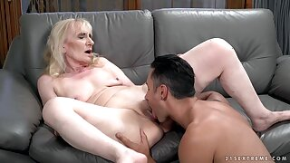 Nasty Grown up Granny Seduces Younger Pauper