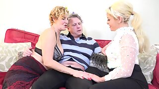 Of age joint dick with younger blonde MILF be required of a wild shag