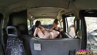 British Spanish Bull dyke Taxi Enjoyment
