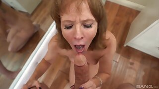 Horny spoken for muff sucking a dick in POV video - Cyndi Sinclair
