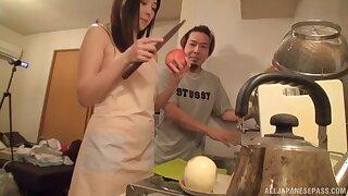 Stunning Japanese babe gest fucked hard by her hubby - Emiri Suzuhara