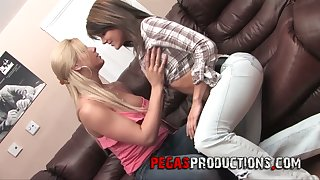 Filthy lesbian Stacy Lady is toying tight anal hole of best girlfriend